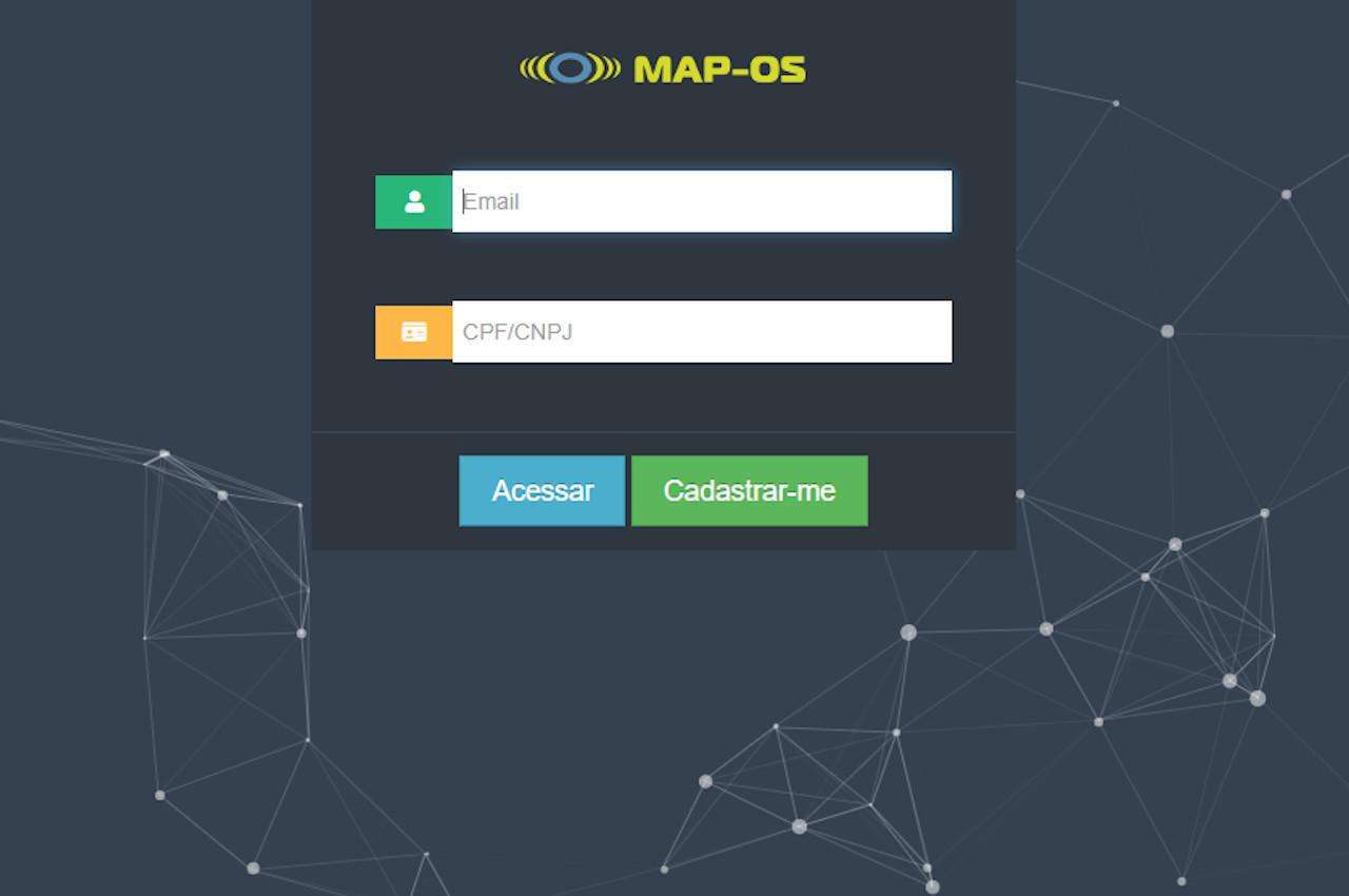 Como configurar o envio de e-mails no MAP-OS